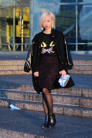 black meow UNIF sweater - black loza Jeffrey Campbell boots