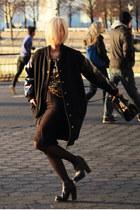 black loza Jeffrey Campbell boots - black Pixie Market jacket - black Zara bag