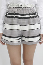 Engineering Stripe High Waist Shorts