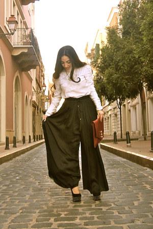 Uterque bag - H&M top - Topshop heels - Zara pants