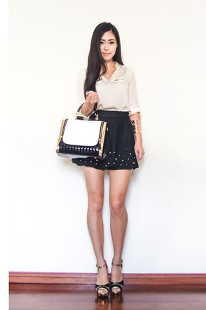 black The Little Black Bag bag - black Chicwish skirt