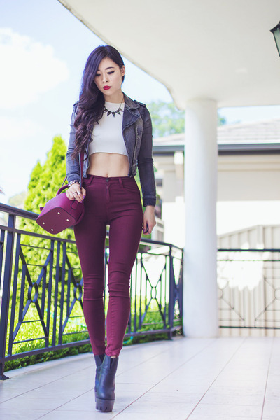 Brick Red OASAP Bags, Brick Red High Waisted Gmarket Pants ...