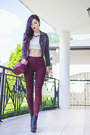 Brick-red-oasap-bag-brick-red-high-waisted-gmarket-pants