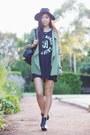 Black-tunic-cotton-on-t-bar-dress-lime-green-lookbookstore-jacket