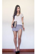 black The Scarlet Room skirt - white Shopmarkethq t-shirt