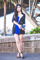navy two tone lookbookstore jacket - blue Thea by Thara dress