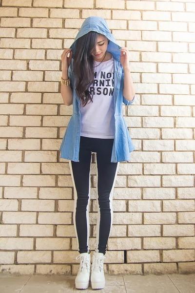 yawn Batoko top - chunky Ebay shoes - monochrome asos pants