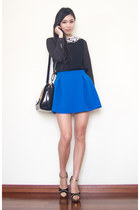 flare BangGood skirt - collar awwdore top