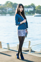 navy gold heel Sportsgirl shoes - navy snakeskin SUPRÉ dress - navy SUPRÉ blazer