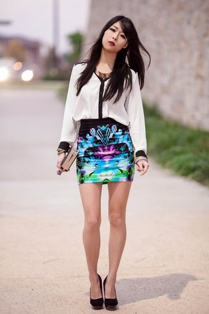 digital love Motel Rocks skirt