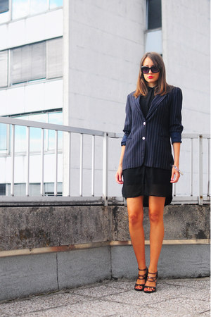 navy vintage blazer - black Vero Moda dress