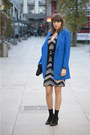 Blue-asos-coat-white-no-name-dress-black-oasap-bag-black-zara-vest