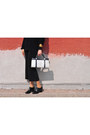 Black-asos-shoes-navy-wallis-sweater-white-vintage-bag