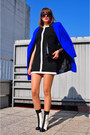 Black-dorothy-perkins-dress-white-asos-boots-blue-asos-coat