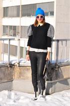 black vintage via Style Carnage sweater - white asos boots