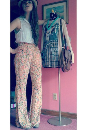vintage pants - Forever 21 shirt - Mossimo wedges