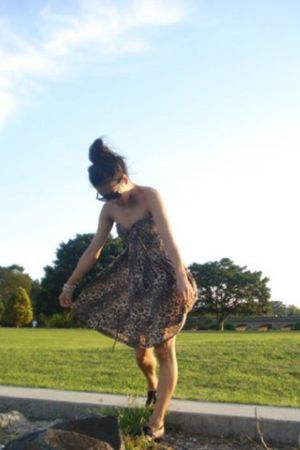 nameless leopard print dress dress - Midas sandals shoes