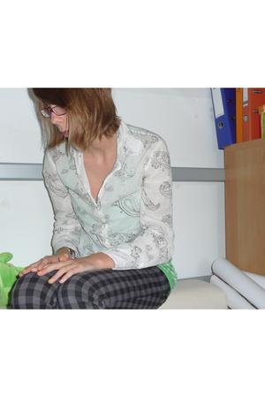 H&M blouse - H&M pants - Only top - camper shoes