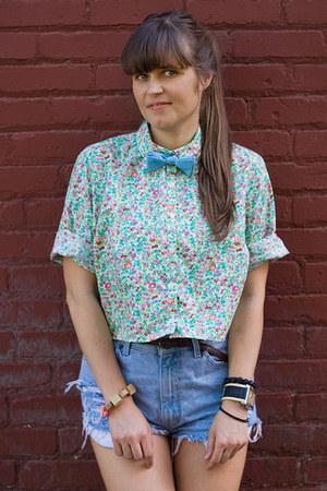 light blue thrifted vintage shirt