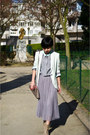 Heather-gray-shirt-dress-cos-shirt-aquamarine-zara-blazer