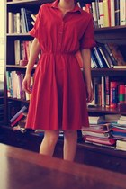 ruby red Mango dress