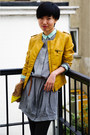 Heather-gray-shirt-cos-dress-yellow-massimo-dutti-purse