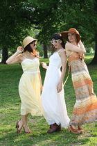 yellow dress - white dress - orange dress
