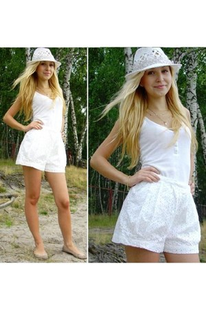 H&M shorts - H&M hat - River Island top