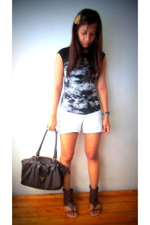 Prada bag - shorts - blouse - Swatch watch - Forever 21 necklace - sandals