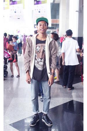 cotton Leopard Print Jacket jacket - leather Black boots boots