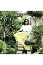 Black-shoes-black-bag-dark-brown-payless-sunglasses-light-yellow-skirt