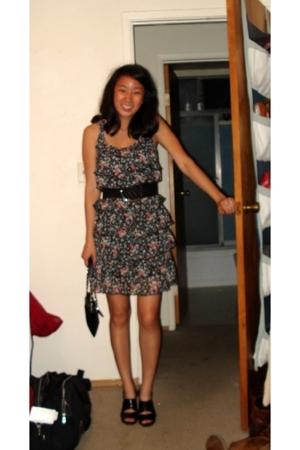 dress - - belt - purse
