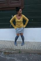 Bershka swimwear - poul & bear skirt - Bershka shoes - claris earrings