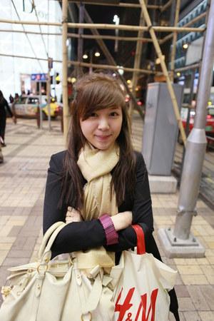 Bershka blazer - H&M scarf - Miu bag