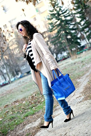 OASAP jacket - Manolo Blahnik shoes - Celine bag - zeroUV sunglasses