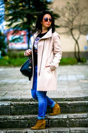 Bershka boots - Denham jeans