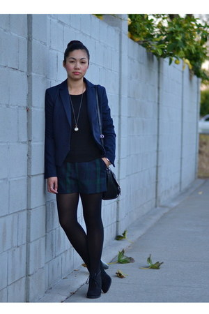 H&M sweater - TRF blazer - Gap shorts