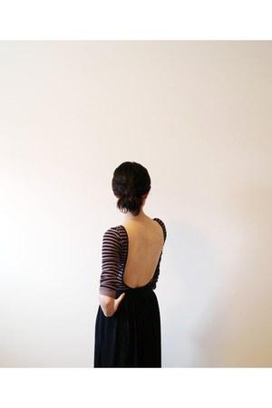 heather gray free people shirt - black maxi Vero Moda skirt