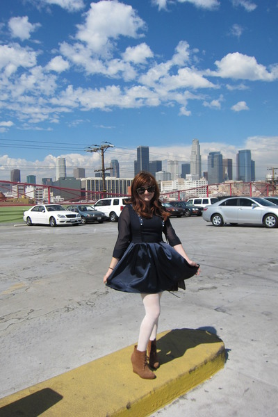 modcloth dress - Michael Kors shoes - Retro Superfuture sunglasses