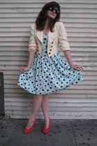 vintage dress - vintage blazer - vintage shoes