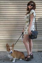 vintage dress - vintage shoes - vintage purse