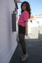 vintage top - Judi Rosen shorts - Japan tights - Jeffrey Campbell shoes