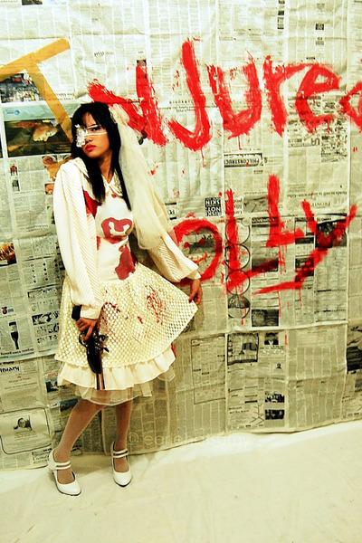 ivory white dress Oleg Cassini dress