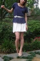 thrifted top - Velvet dress - thrifted belt - Rocket Dog shoes - accessories