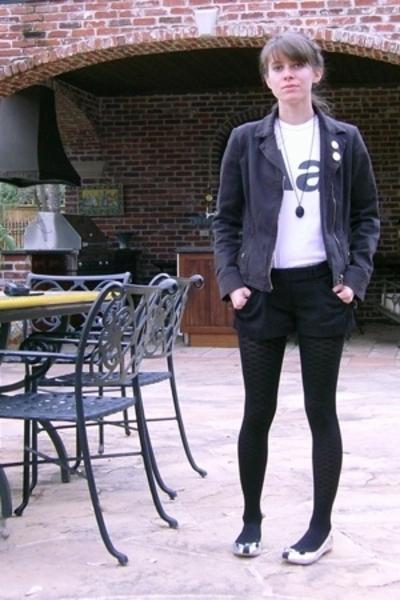 UO jacket - American Apparel t-shirt - Richard Chai x Target shorts - Marc by Ma