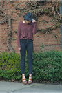 Black-bdg-jeans-black-hat-free-people-hat