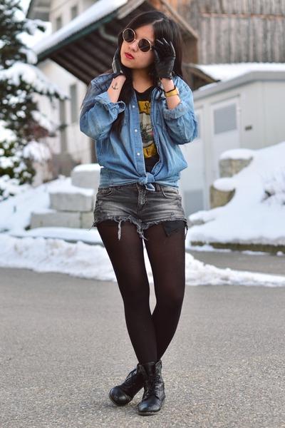 Blue Denim Jeans H&M Jackets, Black H&M Shirts, Gray ...