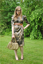 army green apart style dress - olive green Marc by Marc Jacobs bag - camel H&M b