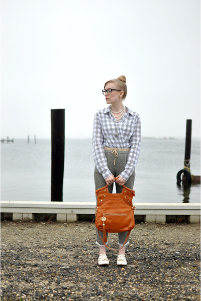 tan Wanted shoes - tawny Foley and Corinna bag - heather gray Target blouse