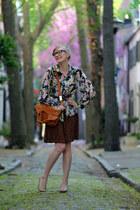 tawny foley  corinna bag - nude Anne Klein wedges - brown Shop Ruche skirt - lig
